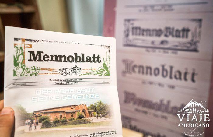 Mennoblatt, el periódico de la comunidad.