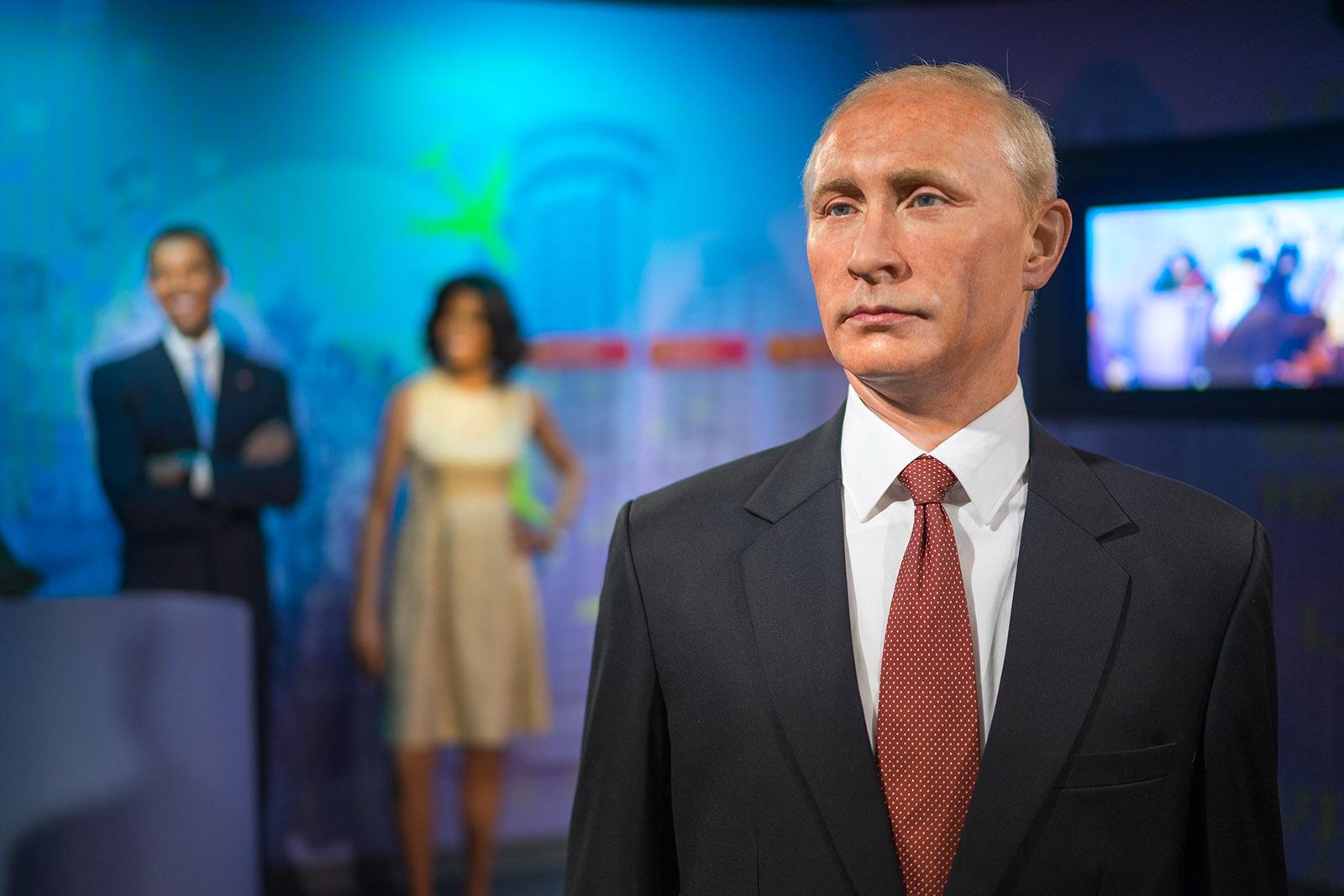 Madame Tussauds Vladimir Putin Obama Michelle